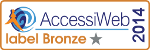 label bronze Accessiweb 2014